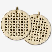 Dimensions Wooden Jewelry Blank - Small Circle THUMBNAIL