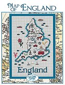 Sue Hillis Designs - Map of England