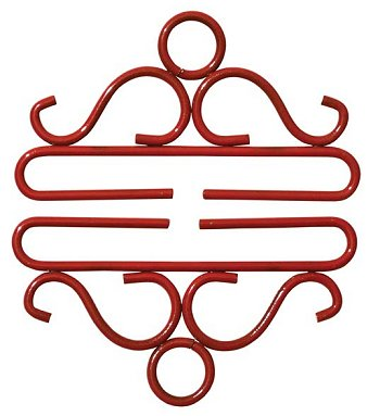 "Bellpull - 4"" Red Wrought Iron_THUMBNAIL"