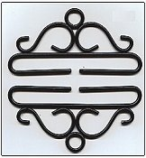 "Bellpull - Black Wrought Iron - 10cm (4"") THUMBNAIL"