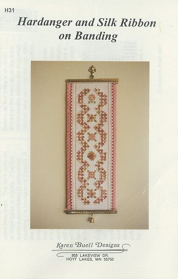 Karen Buell Designs - Hardanger and Silk Ribbon on Banding