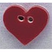 Mill Hill Button - 86009 Small Red Heart THUMBNAIL