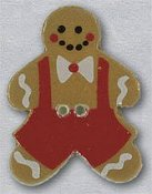 Mill Hill Button - 86014B Gingerbread Boy MAIN