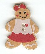 Mill Hill Button - 86014G Gingerbread Girl MAIN
