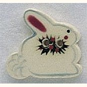 Mill Hill Button - 86092 Snowbunny THUMBNAIL