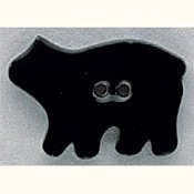 Mill Hill Button - 86110 Black Bear THUMBNAIL