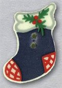 Mill Hill Button - 86111 Blue Stocking THUMBNAIL