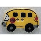 Mill Hill Button - 86117 School Bus THUMBNAIL