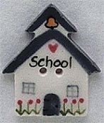Mill Hill Button - 86118 School House THUMBNAIL