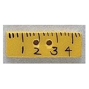 Mill Hill Button - 86123 Ruler