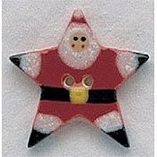 Mill Hill Button - 86155 Star Santa THUMBNAIL