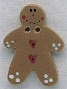 Mill Hill Button - 86156 Gingerbread With Heart