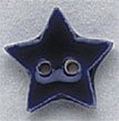 Mill Hill Button - 86179 Small Blue Star THUMBNAIL