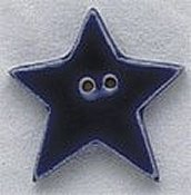 Mill Hill Button - 86183 Large Blue Star THUMBNAIL