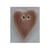 Mill Hill Button - 86207 Large Brown Speckled Folk Heart THUMBNAIL