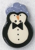 Mill Hill Button - 86354 Penguin with Blue Hat THUMBNAIL