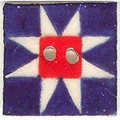 Mill Hill Button - 87001 Jim Shore - Patriotic Ohio Star THUMBNAIL