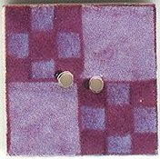 Mill Hill Button - 87008 Jim Shore - Blueberry Nine Patch