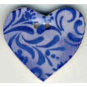 Mill Hill Button - 87034 Jim Shore - Blue Hearts Desire THUMBNAIL