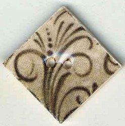 Mill Hill Button - 87042 Jim Shore - Flourish Diamond Taupe MAIN