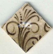 Mill Hill Button - 87042 Jim Shore - Flourish Diamond Taupe