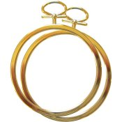 "Stitch A Frame - 2.5"" Round Gold"