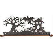"Fabric Holder - 12"" Haunted House (Charcoal)"