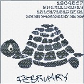Alessandra Adelaide Needleworks - AAN Animal Calendar February Turtle