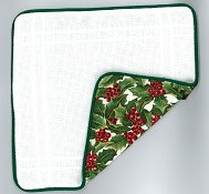 Prefinished Pillow - 18ct Anne Cloth - Christmas THUMBNAIL