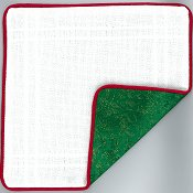 Prefinished Pillow - Christmas - 18ct Anne Cloth THUMBNAIL
