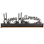 "Fabric Holder - 12"" Happy Halloween (Charcoal) THUMBNAIL"