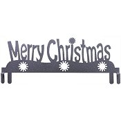 "12"" Merry Christmas Table Stand Header - Silver"