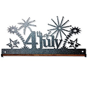 "Fabric Holder - 12"" 4th of July (Charcoal) THUMBNAIL"