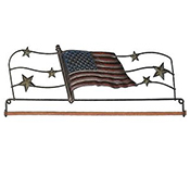 "Fabric Holder - 12"" American Flag THUMBNAIL"
