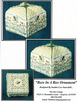 The Bee Cottage - Bees In A Box Ornament_MAIN