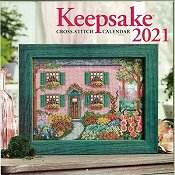 Keepsake Cross Stitch Calendar 2021 Background
