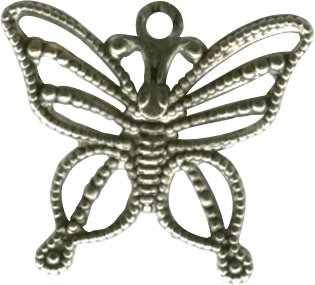Butterfly Charm Antique Silver