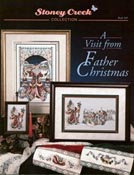Cover photo of Stoney Creek Book 109 A Visit from Father Christmas showing Victorian Christmas cross stitch designs