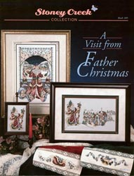 Cover photo of Stoney Creek Book 109 A Visit from Father Christmas showing Victorian Christmas cross stitch designs_MAIN