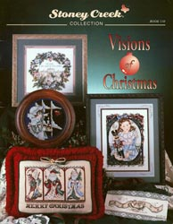 Cover photo of Stoney Creek Book 110 Visions of Christmas showing Victorian Santas, Clara, Nutcracker prince and more