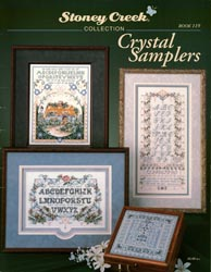 Cover photo of Stoney Creek Book 119 Crystal Samplers featuring cross stitch samplers with lots of beads and crystals