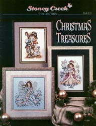 Front cover of Stoney Creek's Book 123 Christmas Treasures of Victorian Christmas cross stitch designs MAIN