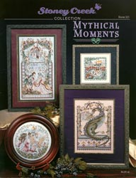 Front cover of Stoney Creek's Book 125 Mythical Moments showing fantasy cross stitch designs