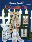 Front cover of Stoney Creek's Book 126 All-Occasion Ties showing cross stitch designs for stitch bows