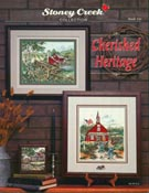 Front cover of Stoney Creek Book 141 Cherished Heritage of nostalgic cross stitch scenes