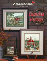 Front cover of Stoney Creek Book 141 Cherished Heritage of nostalgic cross stitch scenes MAIN