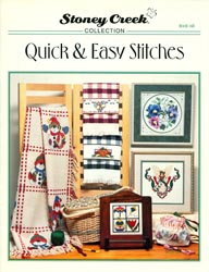 Front cover of Stoney Creek Book 148 Quick & Easy Stitches showing large count cross stitch designs