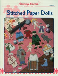 Front cover of Stoney Creek Book 167 Stitched Paper Dolls showing cross stitched paper dolls and outfits_MAIN
