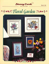 Front cover of Stoney Creek Book 169 Floral Garden showing various floral cross stitch designs