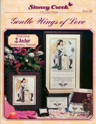 Front cover of Stoney Creek Book 180 Gentle Wings of Love cross stitch with Hardanger